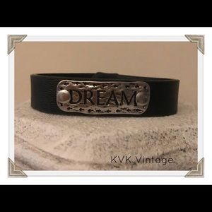 DREAM - Burnished Boho Faux Leather Bracelet